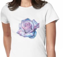 Watercolour Rose Womens Fitted T-Shirt