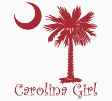 Red Carolina Girl Palmetto Moon by PalmettoTrading