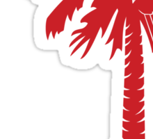 Red Carolina Girl Palmetto Moon Sticker