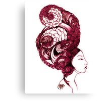 Asian Girls-Aurelia -Garnet Canvas Print