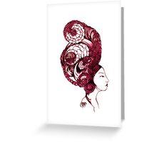 Asian Girls-Aurelia -Garnet Greeting Card