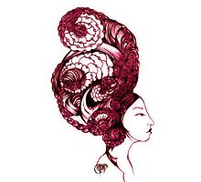 Asian Girls-Aurelia -Garnet Photographic Print