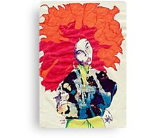 Girl With Abstract Jacket Canvas Print