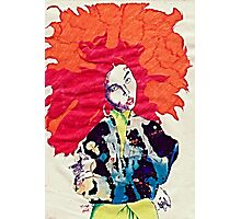 Girl With Abstract Jacket Photographic Print