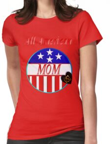 All American MOM Womens Fitted T-Shirt
