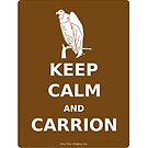 keep calm and carrion buzzard by olivehue