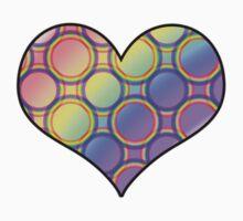 Rainbow Rings Heart Kids Tee