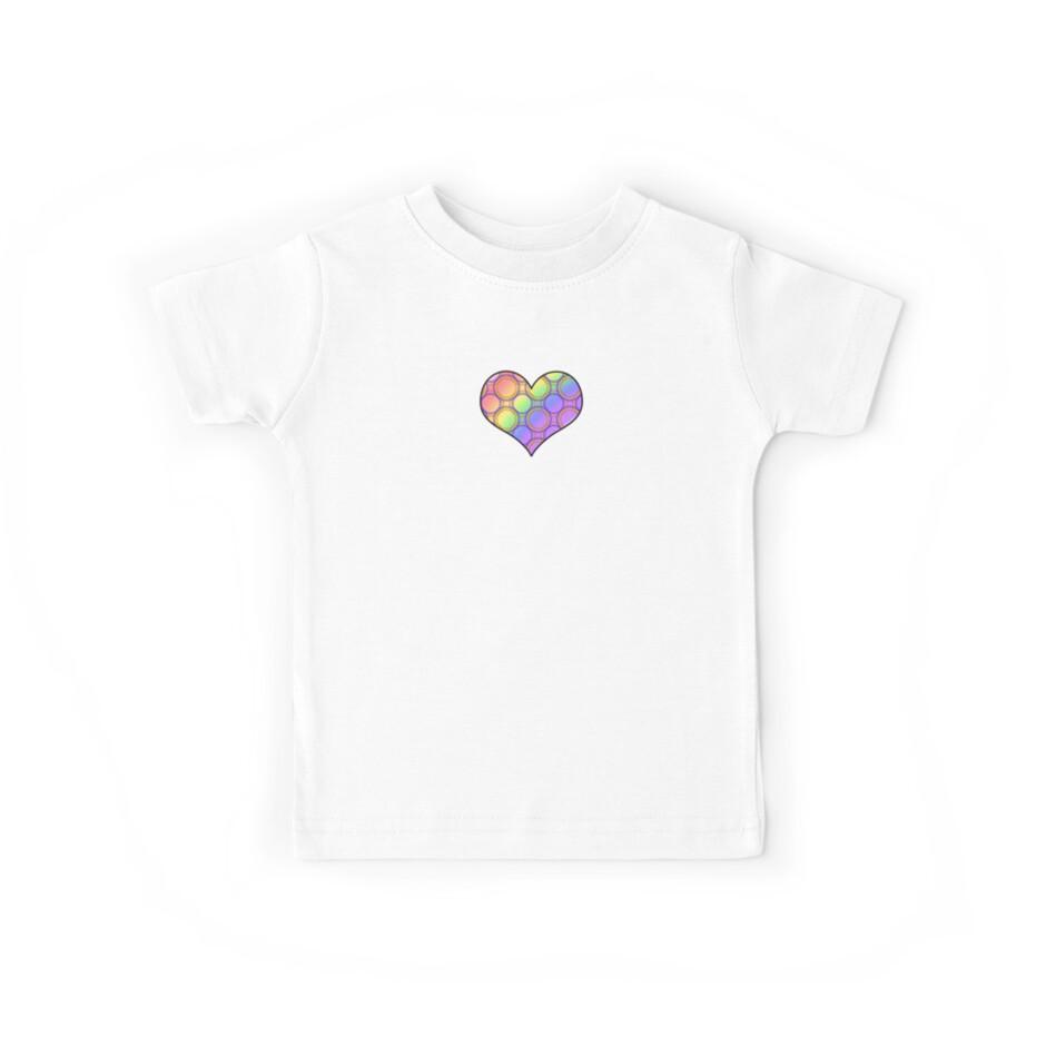 Rainbow Rings Heart by Amy-Elyse Neer