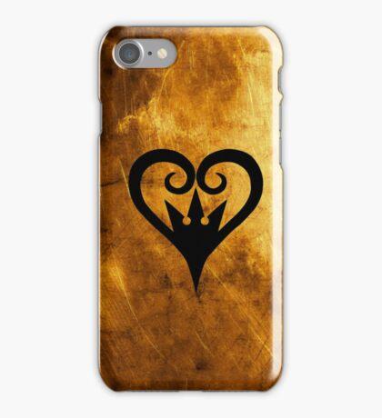 Kingdom Hearts - Heart Crown (Gold) iPhone Case/Skin