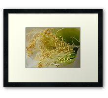 Shades - Yellow | Green | White Framed Print