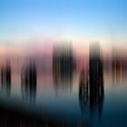 Blurred Sunset over Cardiff Bay by cofiant