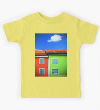 Colored walls and a cloud Kids Tee