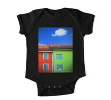 Colored walls and a cloud One Piece - Short Sleeve