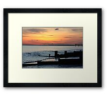 Sunset on Bognor regis beach Framed Print