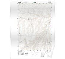 USGS Topo Map Oregon Nye 20110811 TM Poster