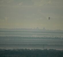 Hot Air Balloon Over Cumberland Plain by muz2142