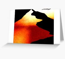 Red Divide - Enhanced shadow art Greeting Card