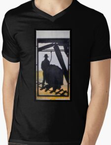 Butte Montana - Working For My Family Mens V-Neck T-Shirt