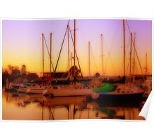 Sunset over the Marina Poster