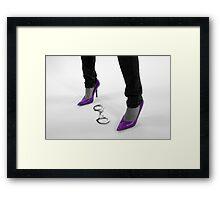 Purple Heels Framed Print