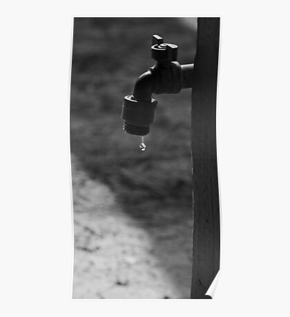 Drip BW Poster