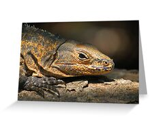 Iguana reptile Greeting Card