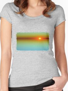 Sunset Reflection Women's Fitted Scoop T-Shirt