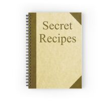 Secret Recipes - a journal for the Super Chef Spiral Notebook