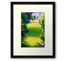 Bunny on a sunny yard Framed Print