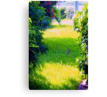 Bunny on a sunny yard Canvas Print