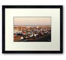 Fishing Community Framed Print
