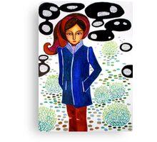 Raincoat Canvas Print