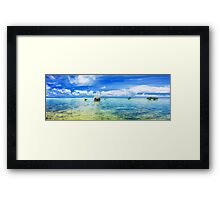 Tropical panorama Framed Print