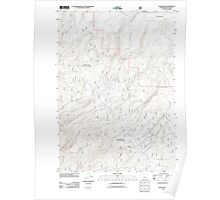 USGS Topo Map Oregon Evans Well 20110818 TM Poster
