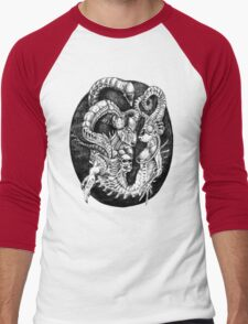 Inspired by Giger Non transparent. Men's Baseball ¾ T-Shirt