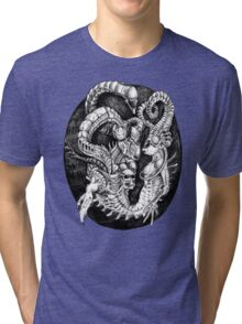 Inspired by Giger Non transparent. Tri-blend T-Shirt