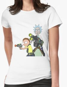 Badass rick and morty Womens Fitted T-Shirt