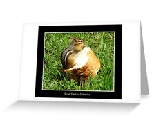 Chipmunk saying grace before a meal Greeting Card