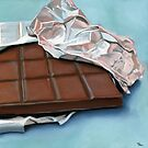 realistic chocolate bar painting by ria hills