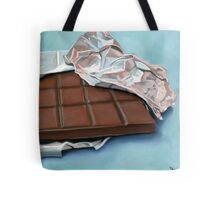 realistic chocolate bar painting Tote Bag