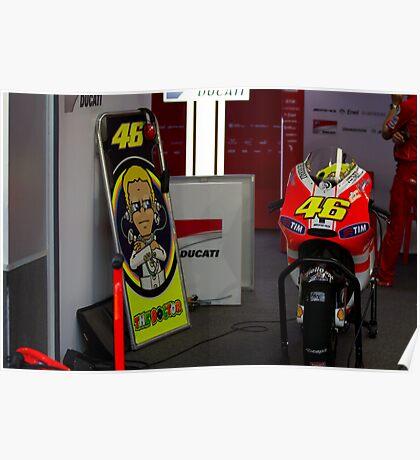 Valentino Rossi # 46 Poster
