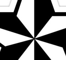 Nautical Star Sticker (white version) Sticker