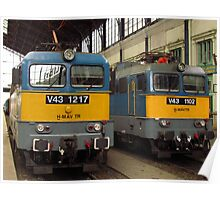 Hungarian Trains Poster