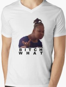 confused black girl meme  Mens V-Neck T-Shirt