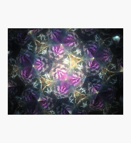 Kaleidoscope purple Photographic Print
