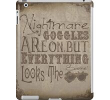 Nightmare Googles iPad Case/Skin