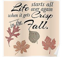 Crisp in the Fall Poster