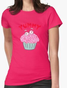 Brain Cupcake For Zombies  Womens Fitted T-Shirt