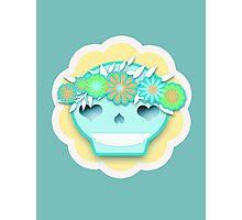 Festival Sugar Skull With Flower Headband Photographic Print