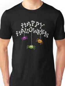 Happy Halloween Bones and Spiders Unisex T-Shirt